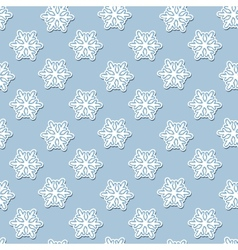 seamless pattern with White snowflakes on a blue vector image vector image