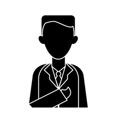 Silhouette doctor healthcare professional clinic vector