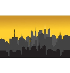 Silhouette of buildings vector