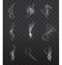 Smoke signs set vector image