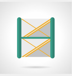 Stage scaffolding flat color icon vector