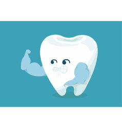 Strong tooth vector image vector image