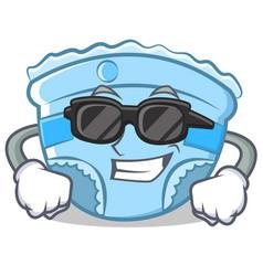 Super cool baby diaper character cartoon vector