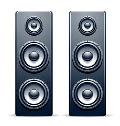 Two audio speakers vector image vector image