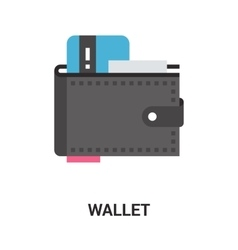 Wallet icon concept vector