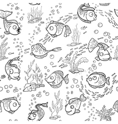 1109 fish seamless vector image