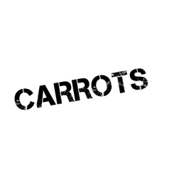 Carrots rubber stamp vector
