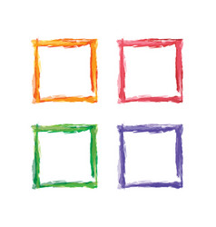 Square color abstract shape frame art vector