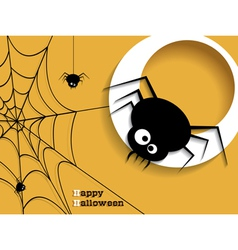 Abstract background for halloween with spiders vector