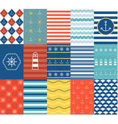 marine backgrounds vector image