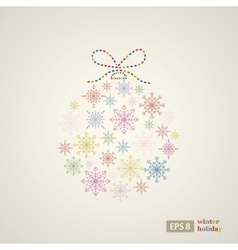 Decoration snowflakes event ball vector