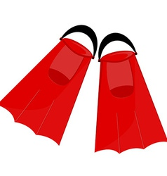Red flippers vector