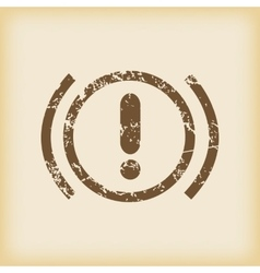 Grungy alert icon vector