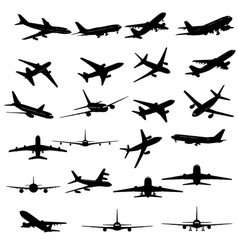 Planes silhouette vector