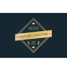 Vintage old style shield logo icon template vector