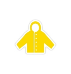 Icon sticker realistic design on paper raincoat vector