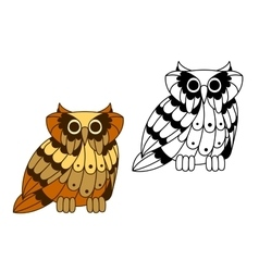 Cartoon isolated owl bird character vector