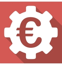 Euro development long shadow square icon vector