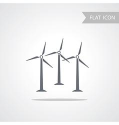 Alternative energy wind turbine vector