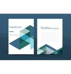 Color business brochure cover template vector