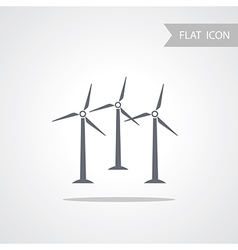 Alternative energy wind turbine vector