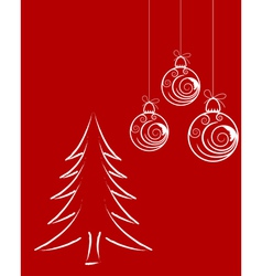 beautiful christmas new year vector image vector image