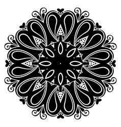 Beautiful deco mandala vector