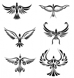 bird tribal tattoo vector image vector image