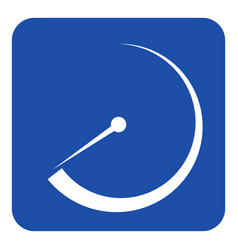 Blue white information sign - gauge dial symbol vector