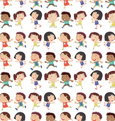 Boys and Girls vector image vector image