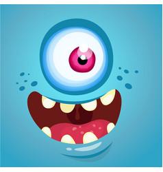 Cartoon funny monster face vector