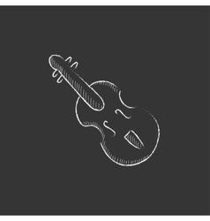 Cello drawn in chalk icon vector