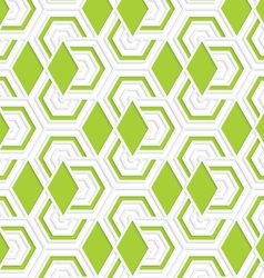 Colored 3d overlapping with green diamonds vector