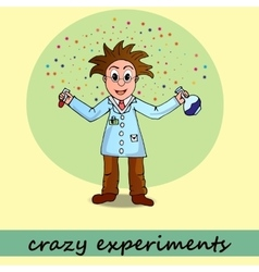 Crazy experiments chemist vector