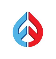 Droplet shape design logo vector