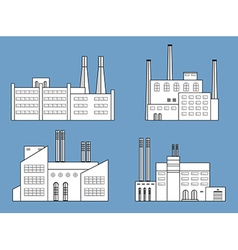 factory set vector image