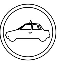 figure symbol taxi side car icon vector image vector image