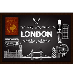 Hand drawn london on chalkboard vector