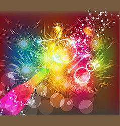 Happy new year 2018 greeting card or poster vector