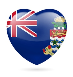 Heart icon of cayman islands vector