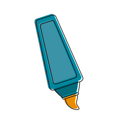 highligther marker utensil vector image