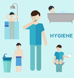 Hygiene infographic elements vector image