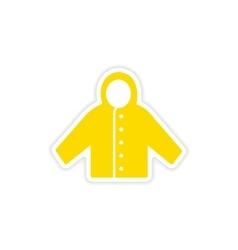 Icon sticker realistic design on paper raincoat vector