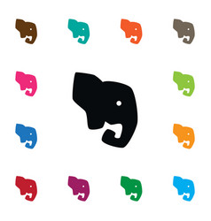 isolated proboscis icon elephant element vector image vector image