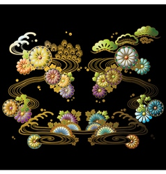 Japanese Flowers vector image