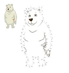 Learn to draw animal polar bear vector