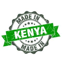 made in kenya round seal vector image