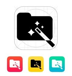 Magic folder icon vector image