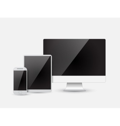 Modern device - monitor computer phone tablet vector image vector image