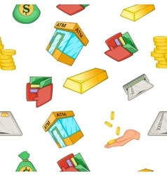 Money pattern cartoon style vector image